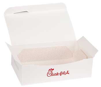 Chick Fil A Menu XL Menu Tab with Hinged Tray
