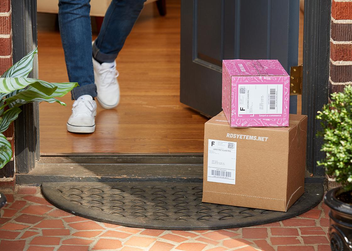 packages by door