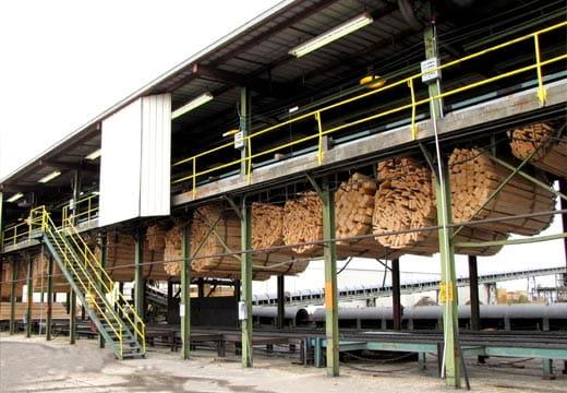 Fábrica de aparas da WestRock em Mahrt, no Alabama.