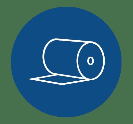 Ícone de bobina de papel kraft