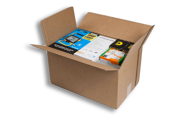 Right-sized shipping boxes reduces void fill and fiber usage