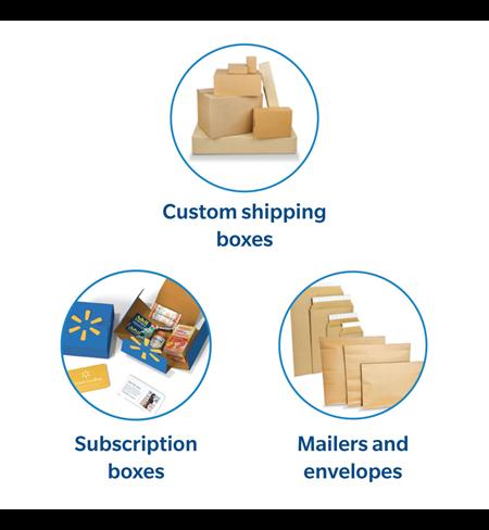 As soluções da WestRock em embalagem para comércio eletrônico incluem caixas de remessa personalizadas, caixas de assinatura, malas-diretas, sacos e envelopes