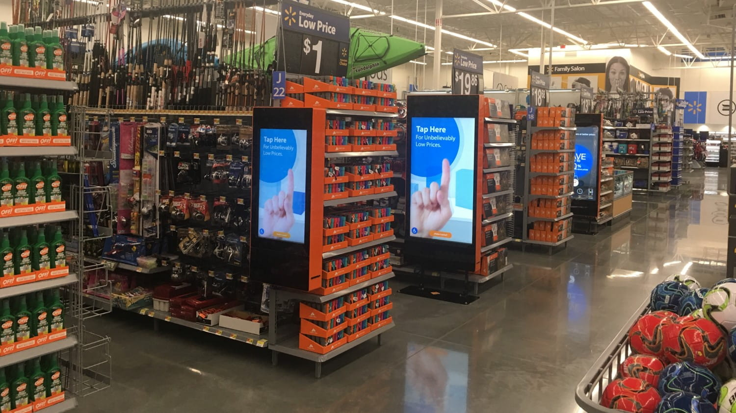 WestRock advanced digital retail displays at WalMart