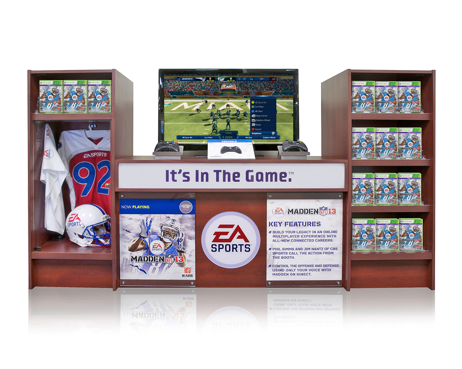 EA Sports Madden Video Game retail product display.