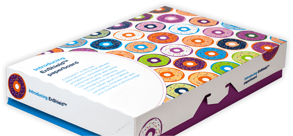 An Enshield donut box.