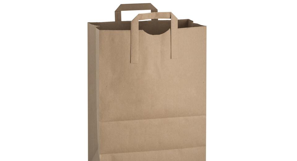 A kraft paper bag