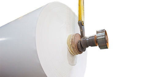 A roll of paperboard.