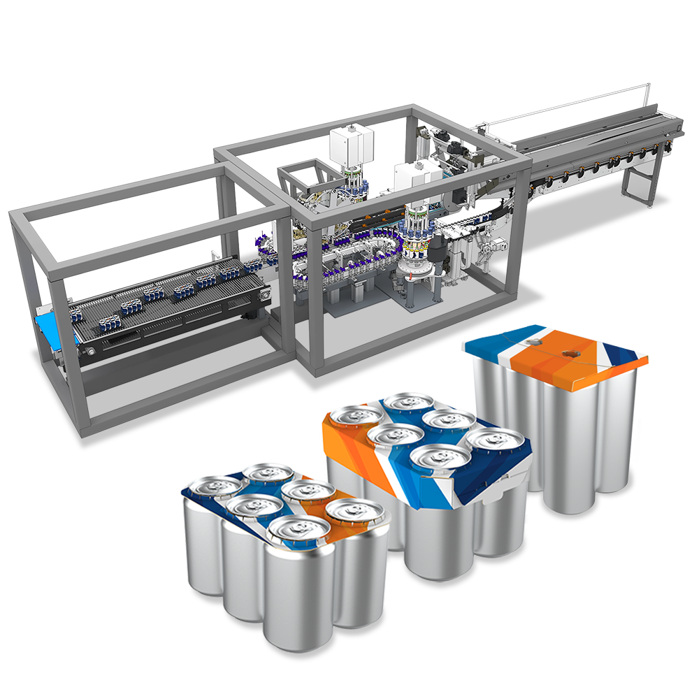 estRock beverage packaging automation for cups, bottles, cans and other liquids