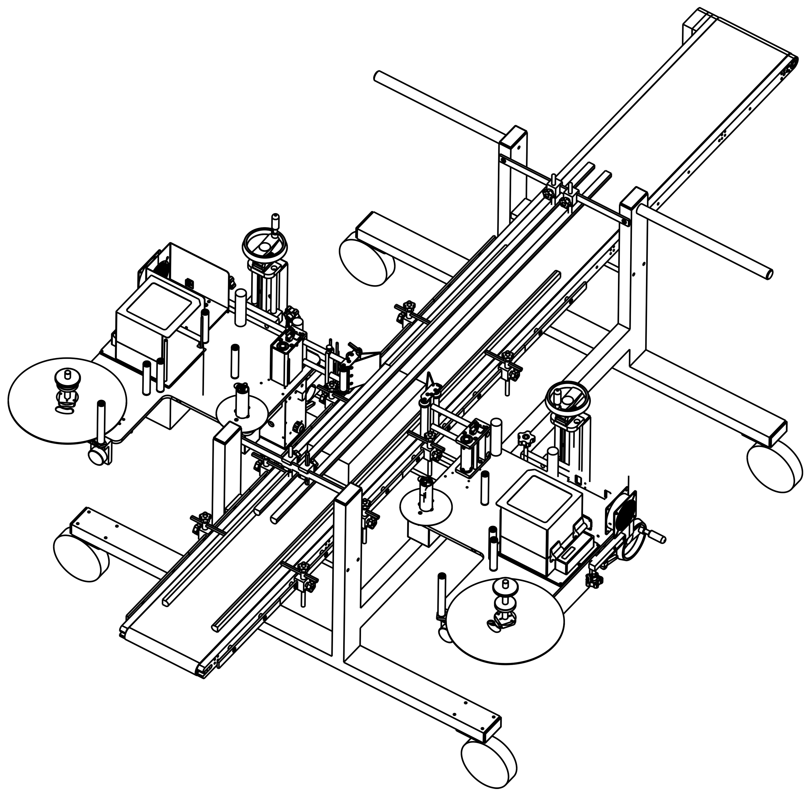 Line drawing of automated horticulture machinery
