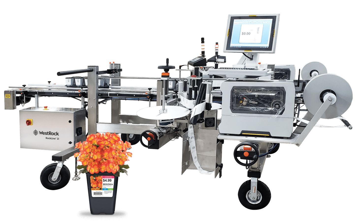 WestRock RockLine Machinery with Begonias
