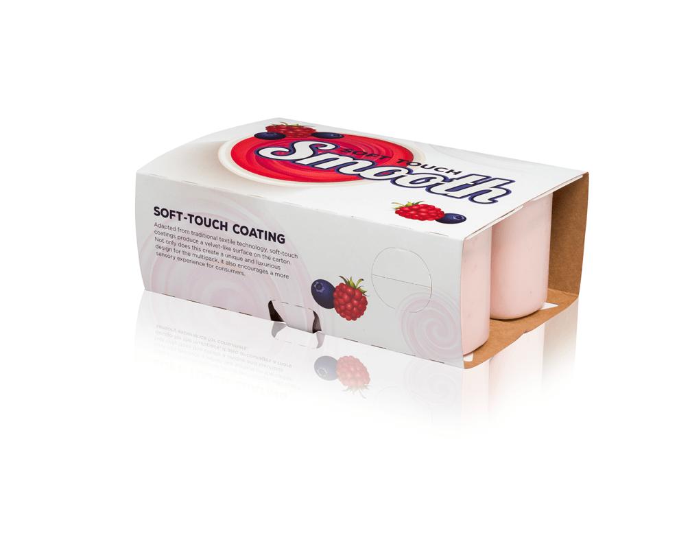 Uma caixa dobrável branca e vermelha para copos.
