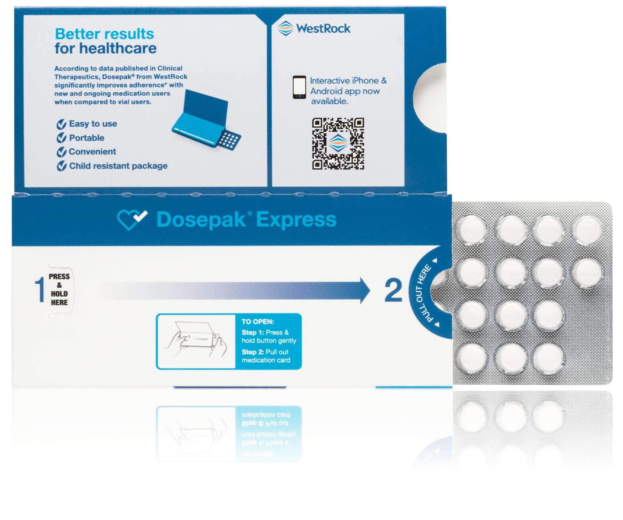 A Dosepak Express adherence solution package.