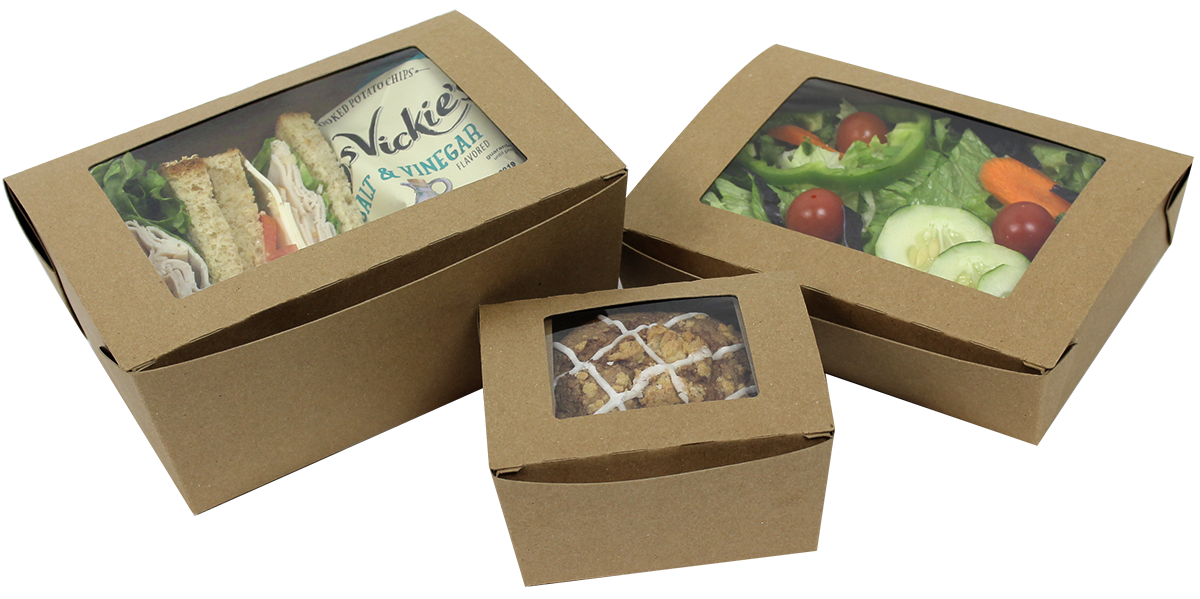 Custom grab and go food containers