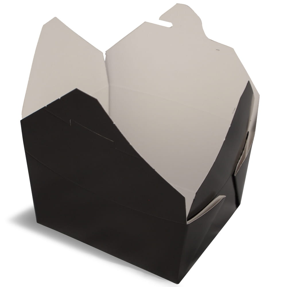 A black rendering of Bio-Pak folding carton container.