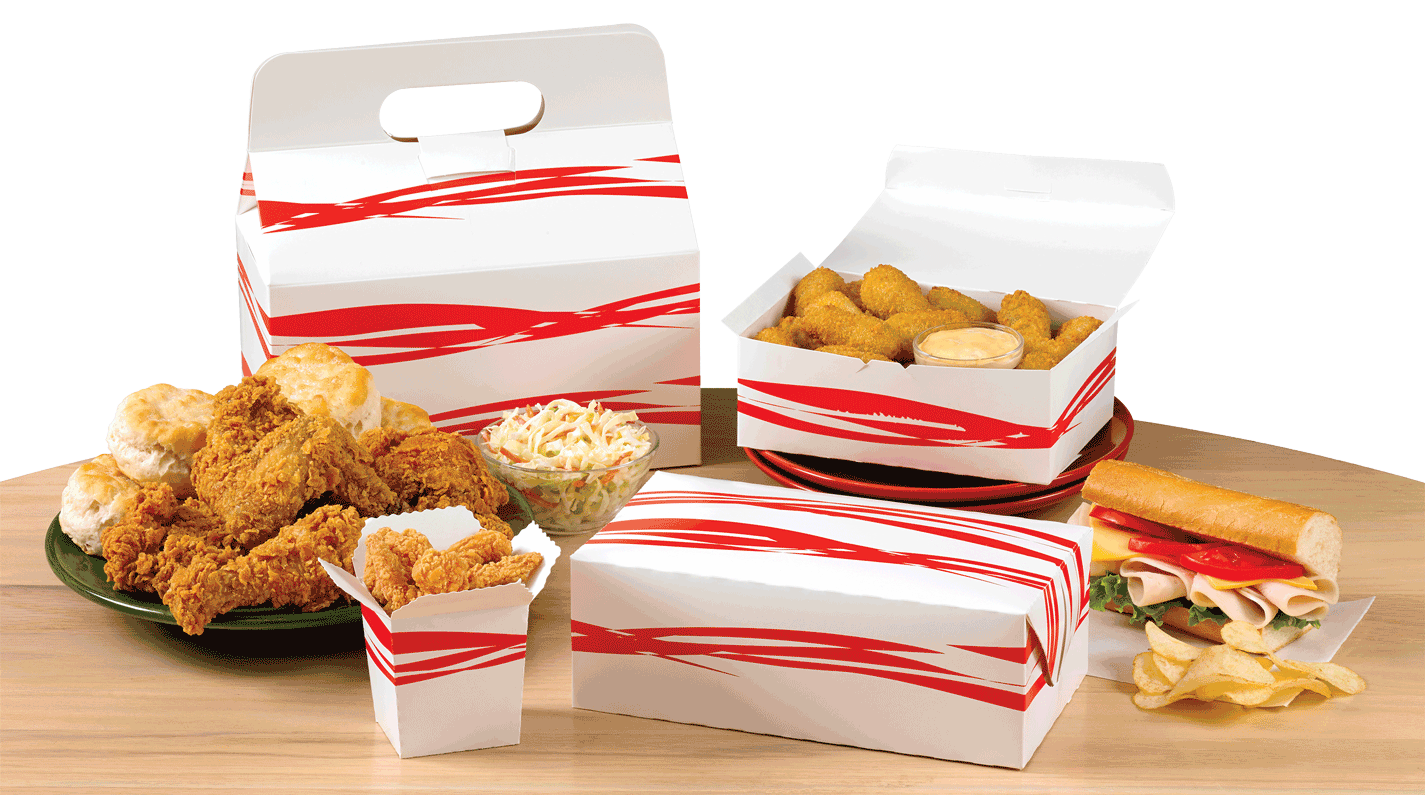 A collection of takeout stock boxes.