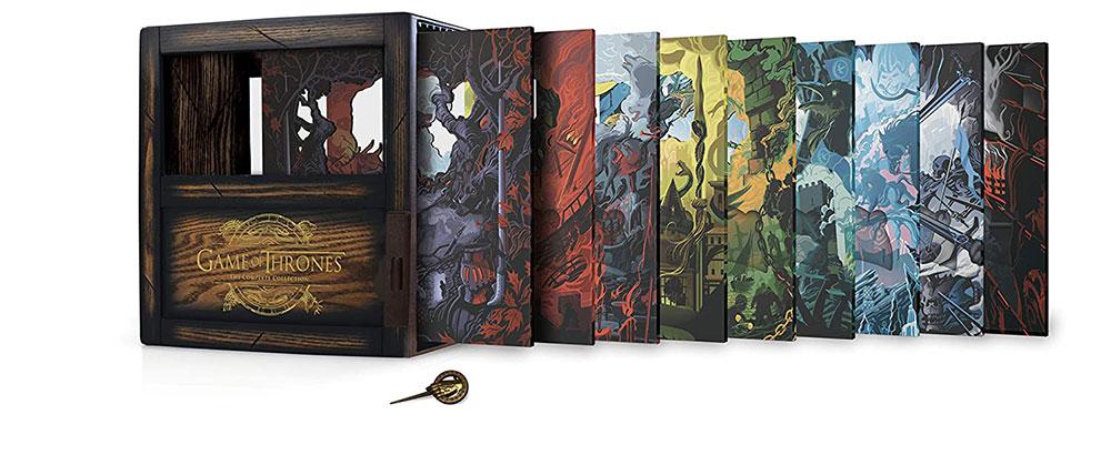 Embalagem do conjunto de caixas de Game of Thrones